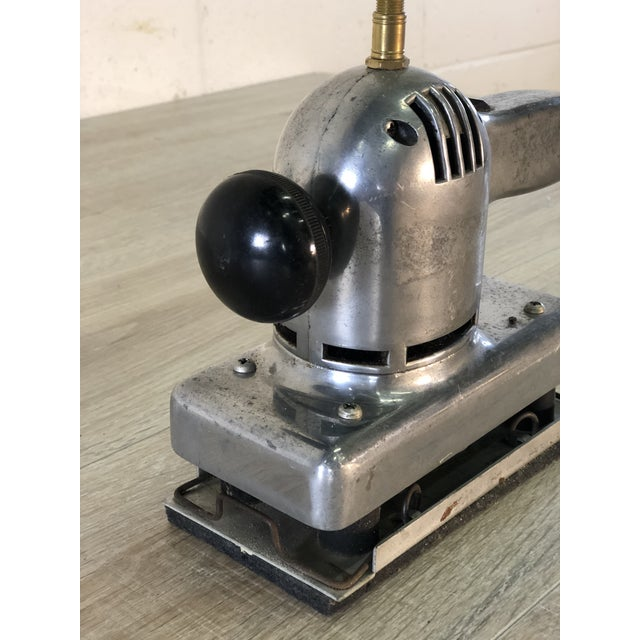 1990s Vintage Recycled Aluminum Sander Table Lamp For Sale - Image 5 of 12