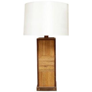 Walnut Parquet Table Lamp