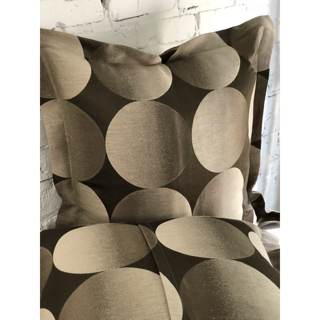 "2010s Pair of 24"" Brown and Tan Geometric Jim Thompson Pillows For Sale - Image 5 of 9"