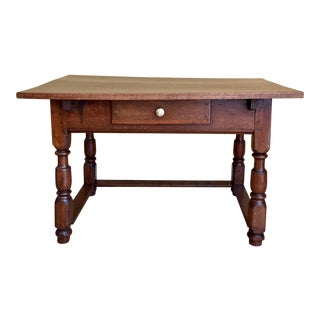 Antique Hand Hewn Mahogany Table For Sale