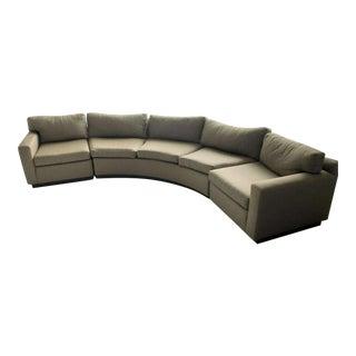1970s Milo Baughman Curved Sofa For Sale
