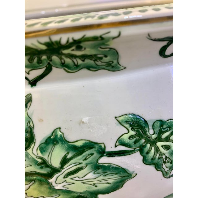 Leaf Motif Jardiniere For Sale In Houston - Image 6 of 13