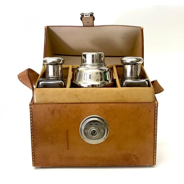 German Flask & Shaker Set Leather Case - Image 2 of 7