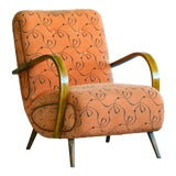 Image of Paolo Buffa Style Midcentury Italian Lounge Chair For Sale