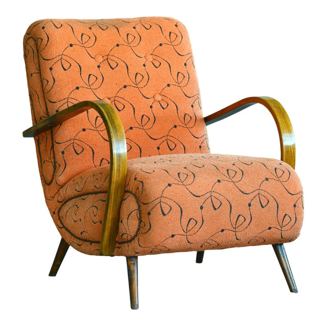 Paolo Buffa Style Midcentury Italian Lounge Chair For Sale