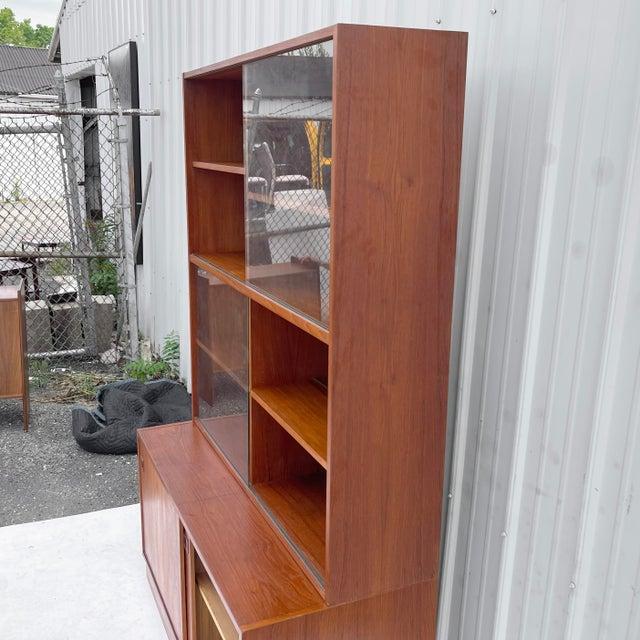 Mid-Century Teak Bookshelf With Cabinet For Sale - Image 12 of 13