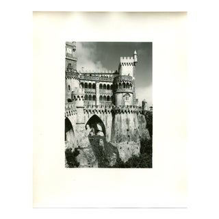 Vintage 1950's Photograph Pena Castle, the Royal Summer Palace Sintra Portugal