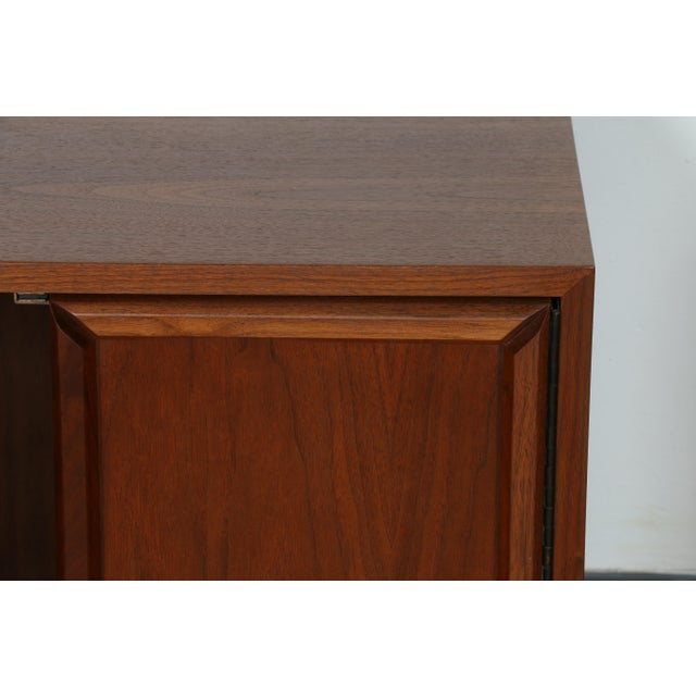 Walnut Brown & Saltman for John Keal Nightstands - A Pair For Sale - Image 7 of 11