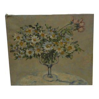 """20th Century Contemporary Original Framed Painting on Canvas, """"Bouquet of Flowers"""" by Frederick McDuff"""