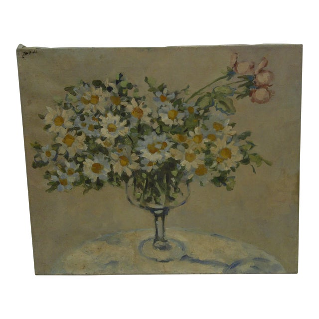 "20th Century Contemporary Original Framed Painting on Canvas, ""Bouquet of Flowers"" by Frederick McDuff For Sale"