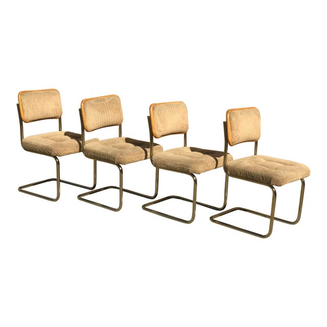 Mid Century Marcel Breuer by Knoll Dining Chairs- Set of 4 For Sale