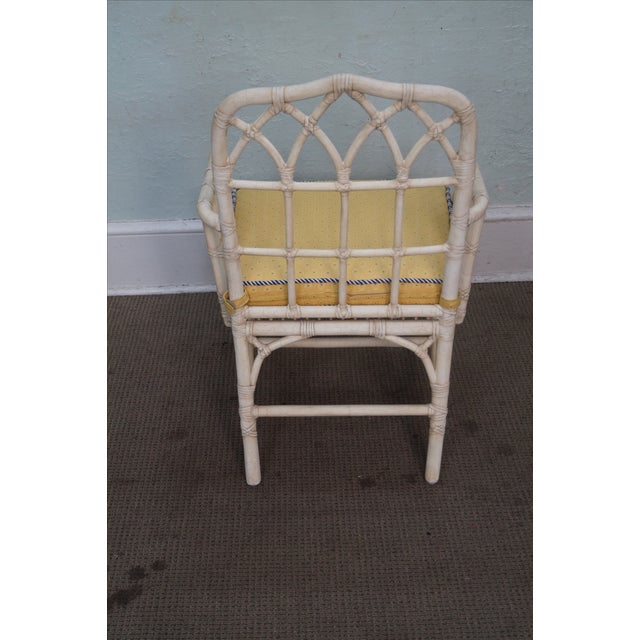 McGuire Chinese Chippendale Style Rattan Arm Chair - Image 4 of 10