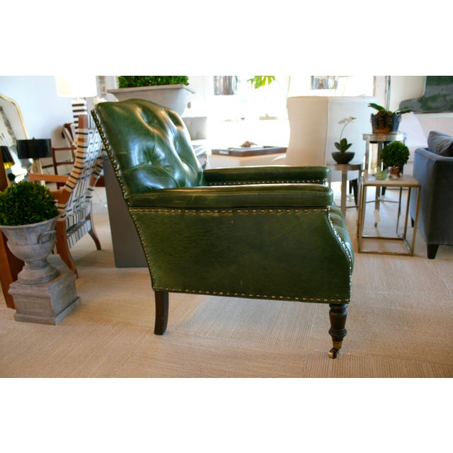 Cisco Brothers Gallant Green Chair For Sale - Image 4 of 7