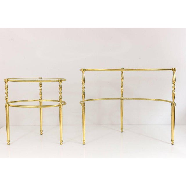 Interesting Oval Brass Nesting Tables, Circa 1940 - Image 6 of 8