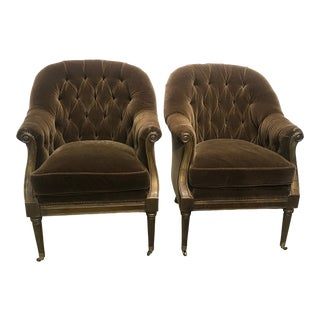 Lillian August Mohair Chairs - a Pair For Sale
