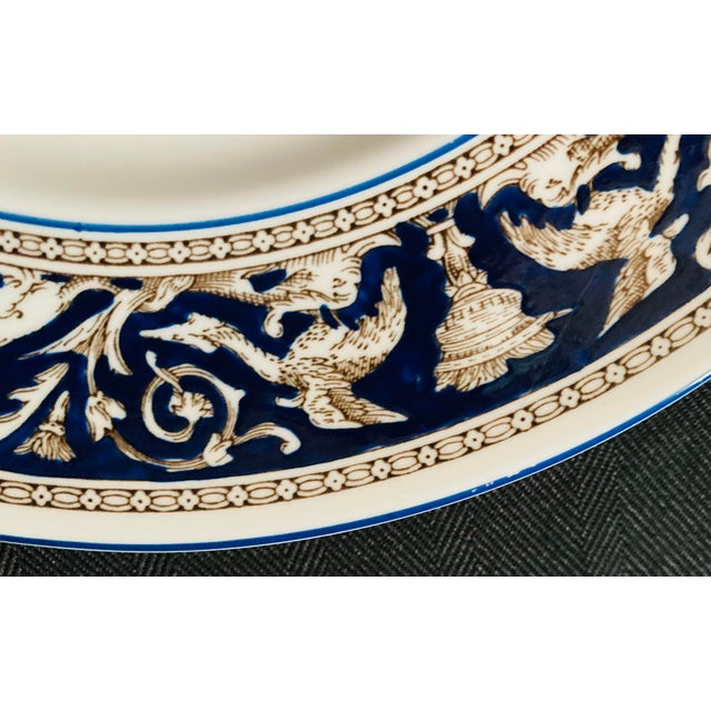 Wedgwood Dinner and Salad Plates Florentine, England - Set of 3 For Sale In Houston - Image 6 of 10