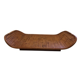 Bamboo & Wood Balinese Tray For Sale