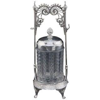 Antique Eastlake Wilcox Silver Plate Co. Pickle Caster, Circa 1898 For Sale