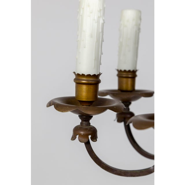 Renaissance Revival Six-Light Candlestick Chandelier For Sale - Image 4 of 11