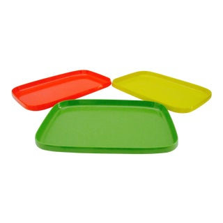 Heller Style Mod Pop Art Stacking Trays - Set of 3