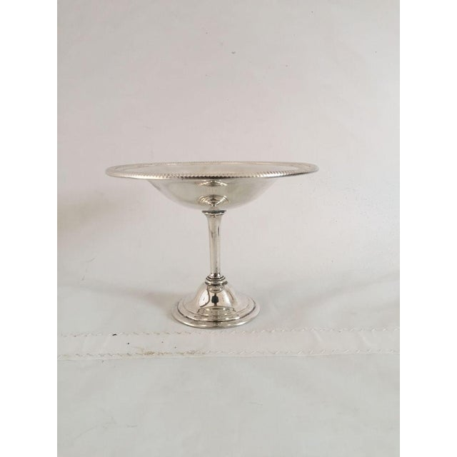 English Silver Plate Compote Dish For Sale - Image 3 of 5