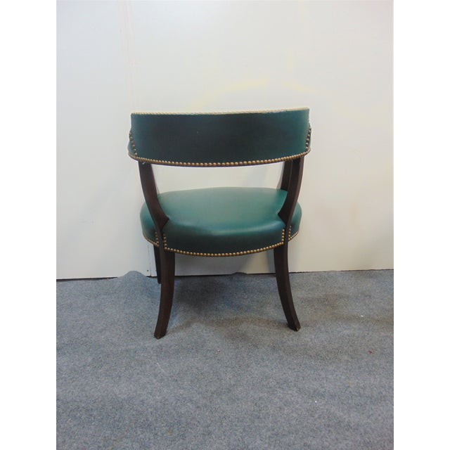 Modern Mahogany & Leather Office Desk Chair For Sale In Philadelphia - Image 6 of 7
