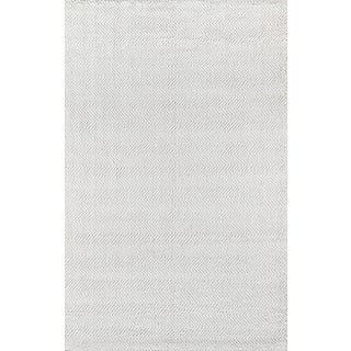 Erin Gates by Momeni Ledgebrook Washington Ivory Hand Woven Area Rug - 7′9″ × 9′9″ For Sale