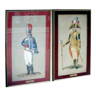 Set of Seven Royal Officers' Portraits Oil on Canvas For Sale