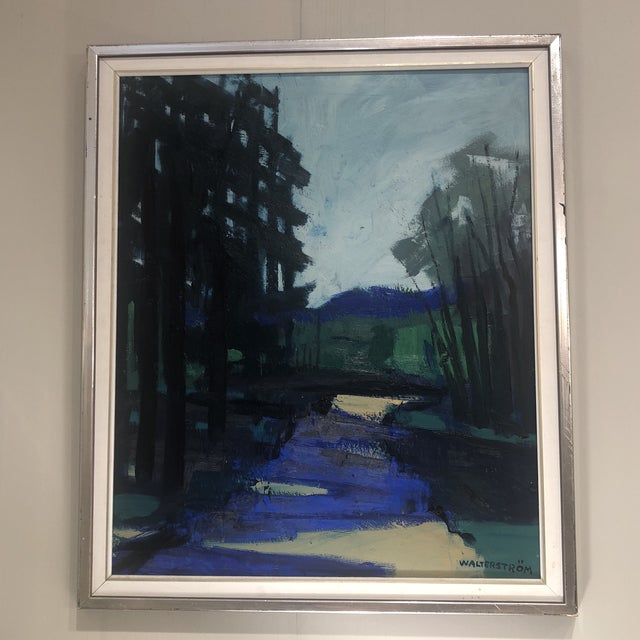 """""""Twilight at the Edge of the Forest"""" Painting For Sale - Image 11 of 13"""