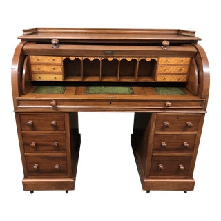 Antique English Cylinder Desk