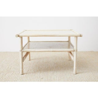 McGuire Bamboo Rattan Two-Tier Cerused Cocktail Table Preview
