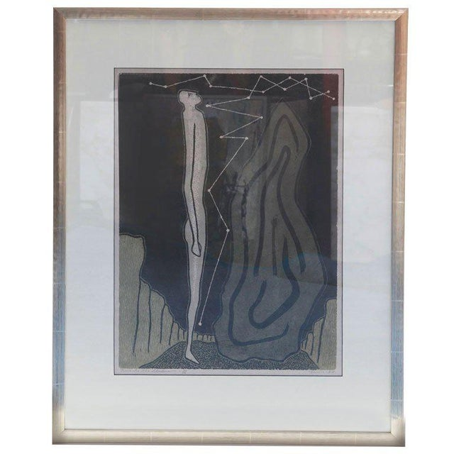 Mid-Century Modern Towards the Unknown Lithograph by Lewis For Sale - Image 3 of 3