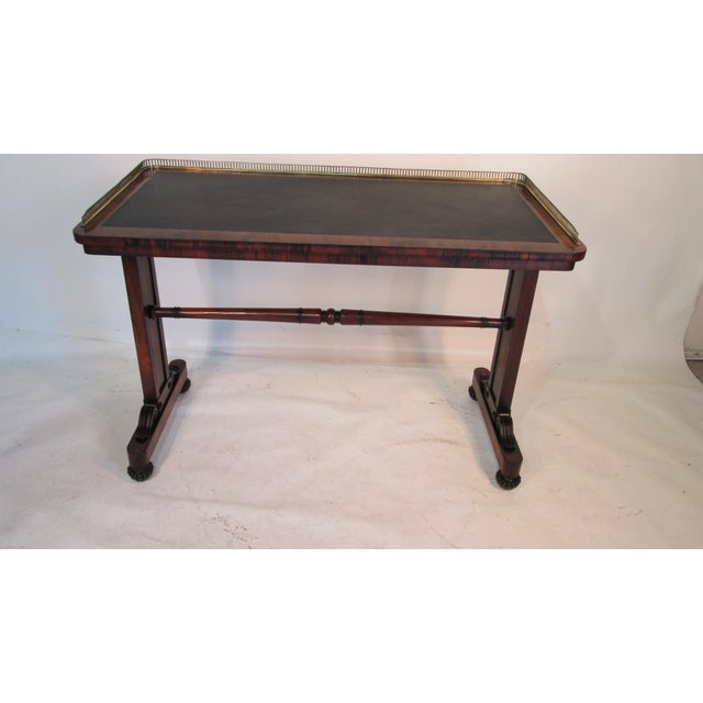 This is a fantastic rosewood desk made by Joseph Gerte of Boston. The finish on the desk is original however I did have...