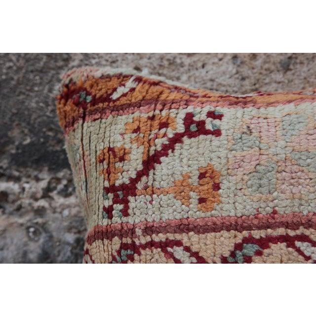 Vintage Turkish Oushak Pillow For Sale - Image 5 of 9