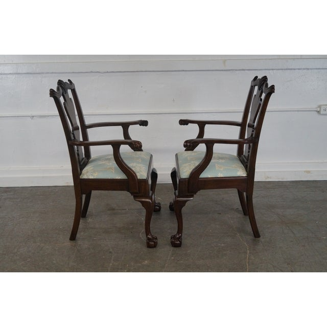 Henkel Harris Mahogany Chippendale Dining Chairs - Pair - Image 3 of 10