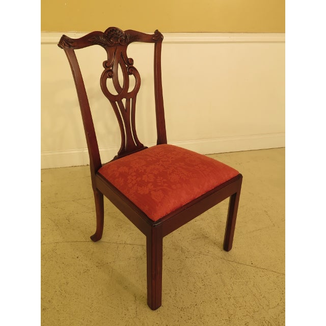 Baker Chippendale Mahogany Dining Room Chairs - Set of 10 For Sale - Image 9 of 13
