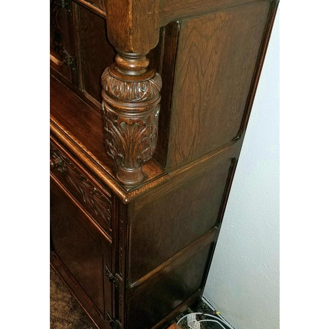 Wood English Oak Renaissance Revival Cabinet For Sale - Image 7 of 13