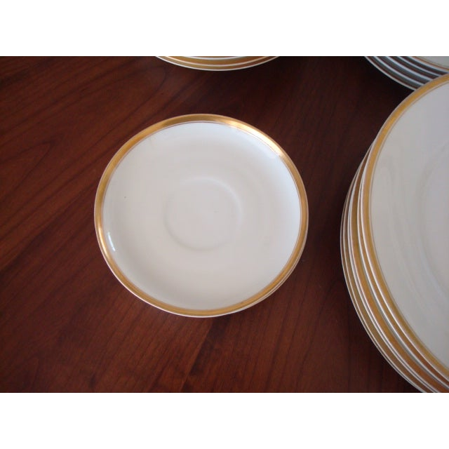Gold And White Bavaria Dishes - Set of 30 - Image 7 of 11