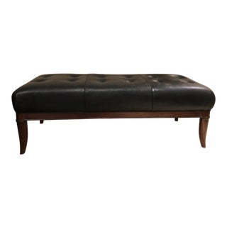Modern Thomasville El Capitan Leather Bench For Sale