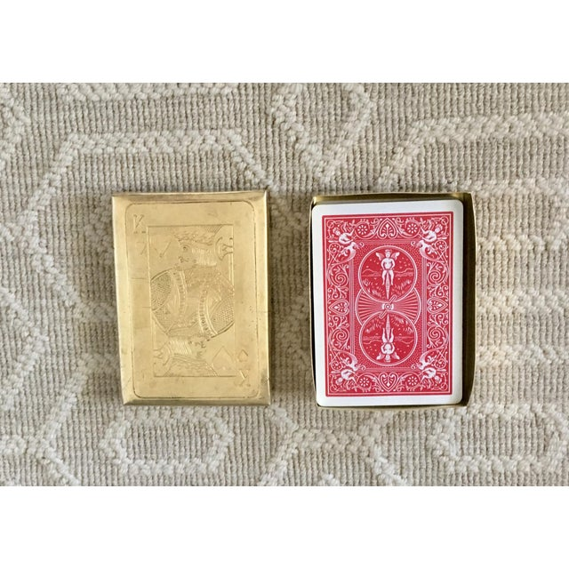 Vintage Brass Playing Card Case For Sale - Image 4 of 7