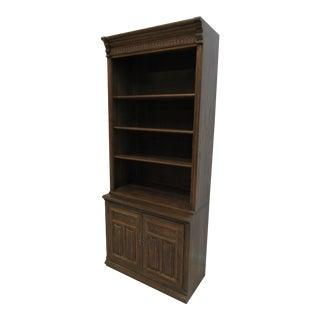 1980s Vintage Ethan Allen Jacobean Style Bookcase