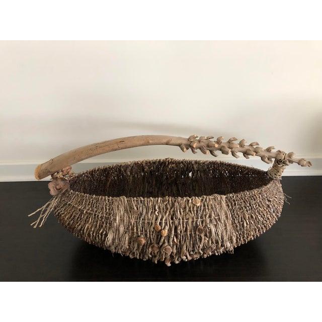 Organic Modern Samuel Yao Handwoven Basket For Sale - Image 4 of 9