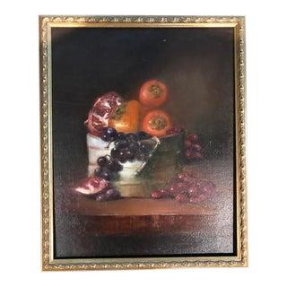 Framed Still Life Oil Painting For Sale