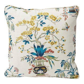 Cottage Schumacher Double-Sided Pillow For Sale