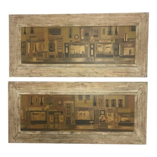 Mid-Century Modern Framed Layton Pictures, a Pair