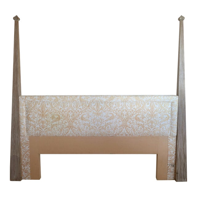 Arts and Crafts Tommi Parzinger Cerused King Size Headboard For Sale