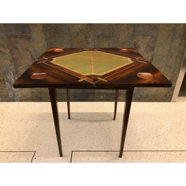Late 19th Century French Rosewood Inlay Handkerchief Game Table For Sale - Image 5 of 8