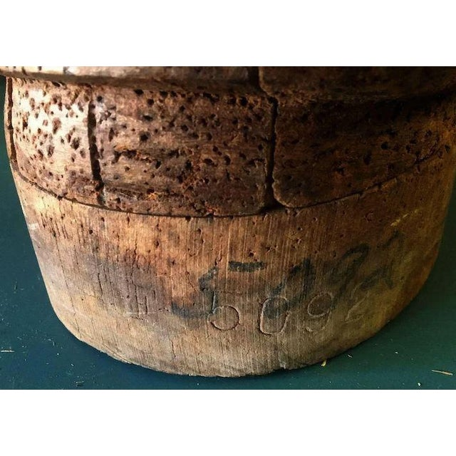 Antique Wooden Millinery Bulbous Hat Mold For Sale - Image 6 of 11