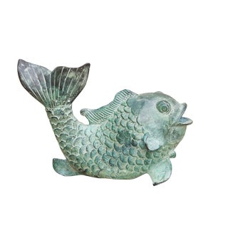 Heavy Verdigris Copper Fish Incense Burner