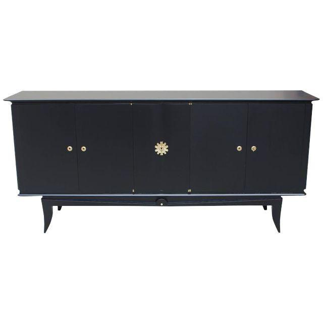 Beautiful Vintage French Art Deco Ebonized Sideboard / Buffet 1940s - Image 11 of 11
